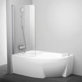 Cvsk1 Rosa 160/170 L белая+транспарент шторка на ванну