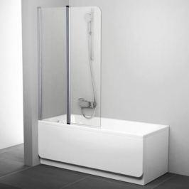 Cvs2-100 L белый+стекло Transparent шторка на ванну двухэлементная