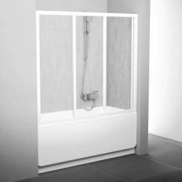 Avdp3-160 белая, транспарент, Supernova ванная дверь раздвижная, трехэлементная