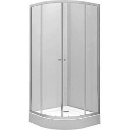 Rp5190222003 Silver Душевой уголок полукруглый 90*90 Shg, закаленное прозрачное стекло, серебристый профиль