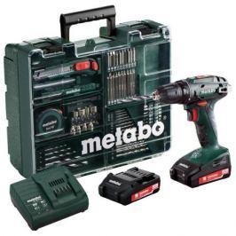 Дрель аккумуляторная Metabo BS 14.4 2*2.0Ач Lilon с набором оснастки 602206880