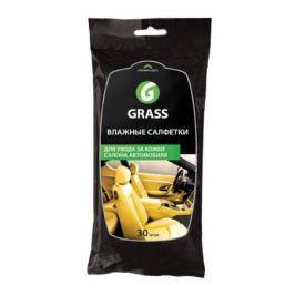 Салфетка GRASS IT0312 для ухода за кож. салоном с воском карнауба