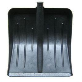 Лопата снеговая Метелица 430*440мм пластмас.(матовая) с оцинк. планкой, б чер.