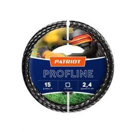 Леска PATRIOT Profline 2.4*15м скрученный квадрат, черный 240155