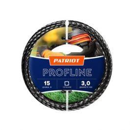 Леска PATRIOT Profline 3.0*15м скрученный квадрат, черный 300155