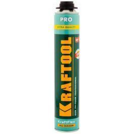 Пена KRAFTOOL KRAFTFLEX PREMIUM PRO профессиональная полиуретановая, д монт.пистолета, всесезонная, SVS, 750 мл 41182_Z01