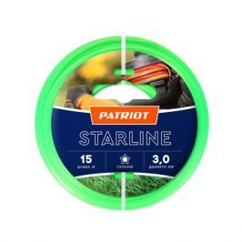 Леска PATRIOT STARLINE 3,0мм*15м (звезда,зеленая) 805201066