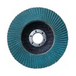Круг лепестковый торцевой Атака 150 P80 цирконий (синий)