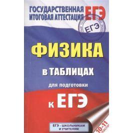Маталина Е. (отв. ред.) Физика в таблицах для подготовки к ЕГЭ. 10-11 класс