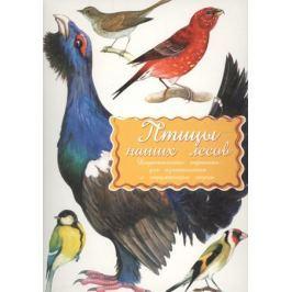 Дидакт. карточки Птицы наших лесов