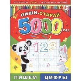 Пиши-стирай 5000 раз. Пишем цифры. 4+