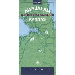 Карта. Karjalan. Historia ja Nykyaika. Kannas. 1938-2016 (на финском языке)