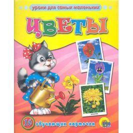 Цветы . 16 обучающих карточек