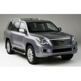 Защита Lexus LX570 2007- картера и рулевых тяг/Toyota Land Cruiser 2008- картера all сталь 2мм б/кр