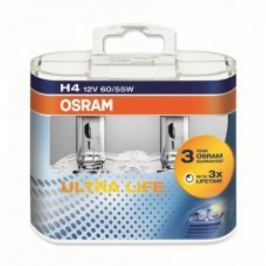 Лампа Osram H4 60/55W 12V Ultra Life 2 шт.
