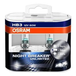 Лампа Osram HB3 60W 12V Night Breaker Unlimited 2 шт.