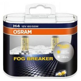Лампа Osram H4 60/55W 12V Fog Breaker 2 шт.