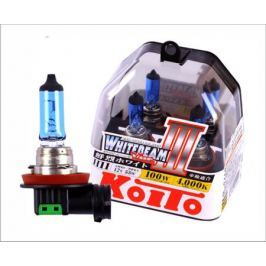 Лампы KOITO H11 Whitebeam 3 12V 55W 100W 4000K 2 шт.