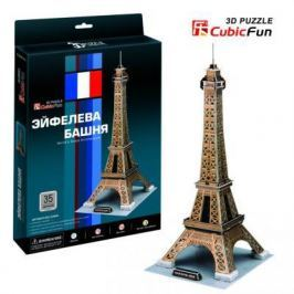 Пазл 3D CubicFun Эйфелева Башня (Франция) 35 элементов C044H