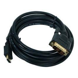 Кабель HDMI-DVI Gembird, 3.0м, 19M/19M, single link, черный, позол.разъемы, экран, пакет