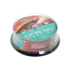 Диски DVD+RW 4.7Gb VS 4х 25 шт Cake Box