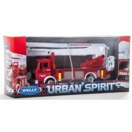 Пожарная машина Welly 99623 1:60 красный