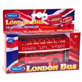 Автобус Welly London Bus 1:34-39 красный 99930C