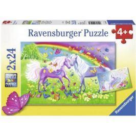 Набор пазлов Ravensburger Радужные лошади 48 элементов