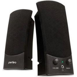 Колонки Perfeo Uno PF-210 2x3 Вт USB черный