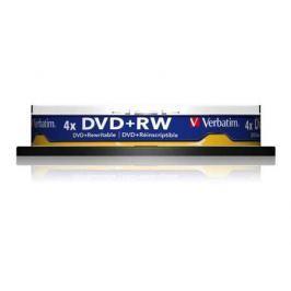 Диски DVD+RW 4.7Gb Verbatim 4x 10 шт Cake Box <43488>