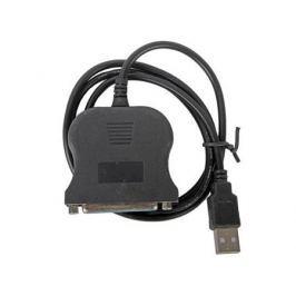 Кабель-адаптер Orient ULB-225, USB AM to LPT DB25F (порт), кабель 0.85м, крепление гайки