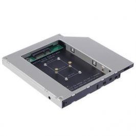 Шасси Orient UHD-2MSC12 для SSD mSATA для установки в SATA отсек оптического привода ноутбука 12.7 мм 30345