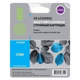 Картридж Cactus CS-LC525XLC для Brother DCP-J100/J105/J200 голубой
