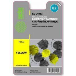 Картридж Cactus CS-C4913 №82 для HP Design Jet 500/800C желтый