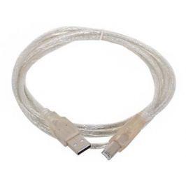 Кабель USB 2.0 AM-BM 1.8м Telecom VUS6900T-1.8MTP прозрачная изоляция