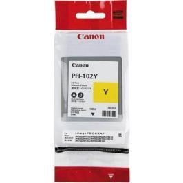 Картридж Canon PFI-102Y для iPF510 605 610 650 655 750 760 765 LP17 130мл желтый 0898B001