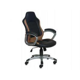 Кресло Buro CH-825S/Black+Bg пластик серебристый искусственная кожа черно-бежевый