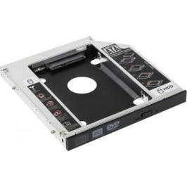 """Шасси Orient UHD-2SC12 для 2.5"""" SATA HDD для установки в SATA отсек оптического привода ноутбука 12.7 мм 30263"""