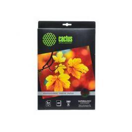 Фотобумага Cactus CS-HGA428020 Professional суперглянцевая А4 280 г/м2 20 листов