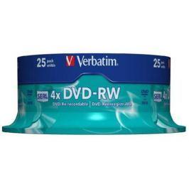 Диски DVD-RW 4.7Gb Verbatim 4x 25 шт Cake Box <43639>
