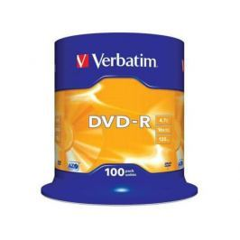 Диски DVD-R 4.7Gb Verbatim 16х 100 шт Cake Box <43549>