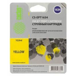 Картридж Cactus CS-EPT1634 для Epson WF-2010/2510/2520/2530/2540/2630/2650/2660 желтый