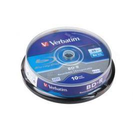 Диск Blu-Ray Verbatim BD-R 6x 25 GB 10 Шт Cake box (43742)