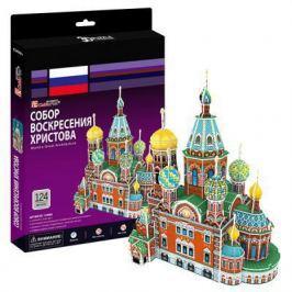 Пазл 3D CubicFun Собор Воскресения Христова (Россия) 124 элемента C206h