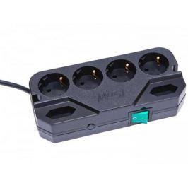 Сетевой фильтр MOST Compact СRG черный 6 розеток 2 м