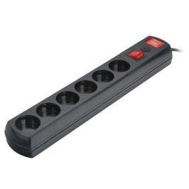 Сетевой фильтр MOST Lite LR черный 6 розеток 1.7 м