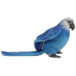 Мягкая игрушка попугай Hansa Голубой Ара искусственный мех голубой 27 см 6790