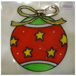 Наклейка-панно гелевая, декоративная, на стекло, 1 шт. в пакете, 11х14 см, 3 вида