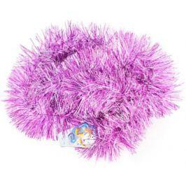 Мишура ИНЕЙ, фиолетовая, блестящая, 100 мм, длина 2 м