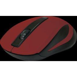Мышь беспроводная DEFENDER MM-605 красный USB 52605